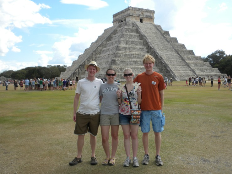 Andy, Me, Sydney, & Evan at Chichen Itza