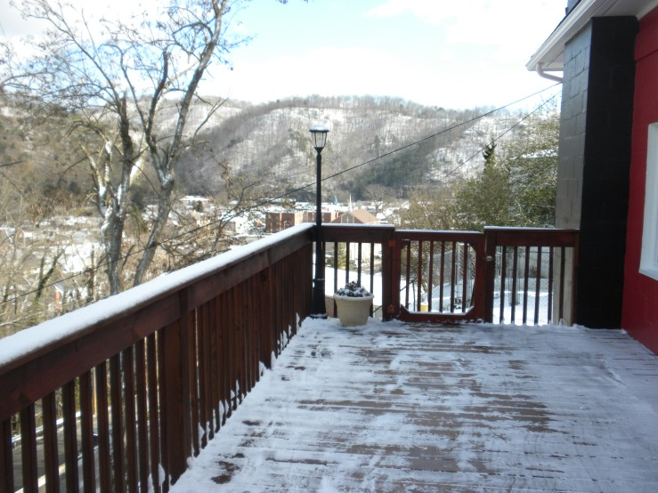 The view from the deck of our almost-house when we first looked at it 2 months ago.