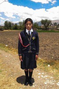 Gabriela, my sponsored child