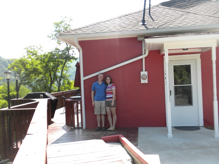 Outside of our first house!