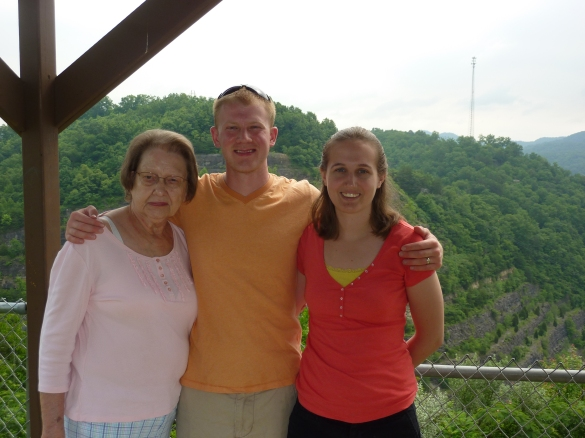 Andy and I with his Grandma at the overlook.
