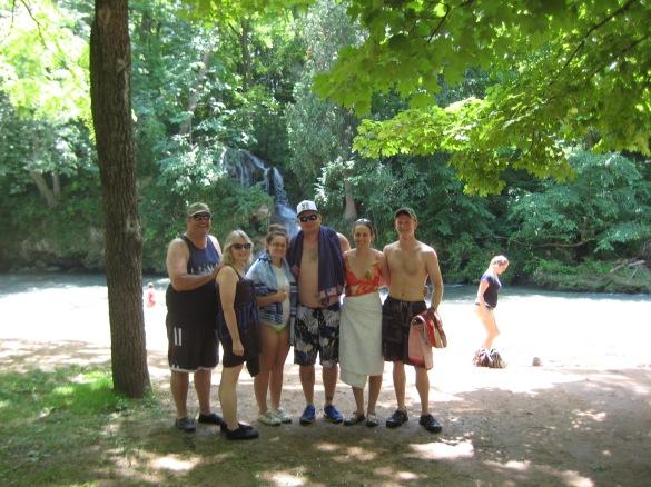 Tubers at waterfalls