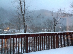 Our First Pikeville Snow
