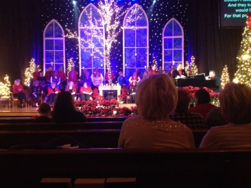 A Christmas Homecoming concert at church.