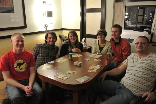 Playing Bang! with friends from CO and Pikeville. :)