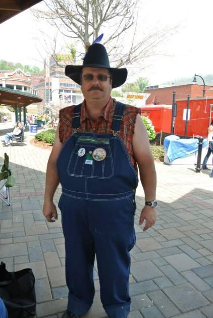 Dad's festive attire.