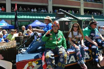 Hillbillies in the parade.