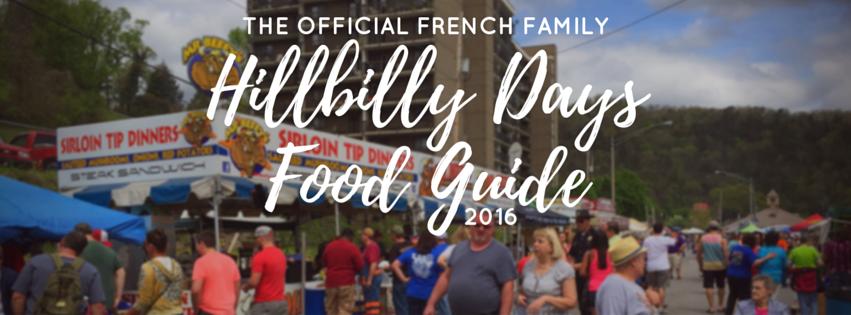 Hillbilly Days Food Guide'16