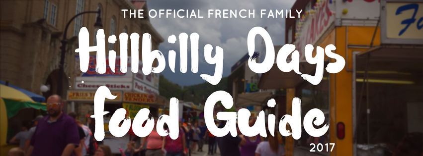Hillbilly Days Food Guide '17